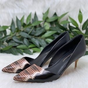 Rebecca Minkoff Point Toe D'Orsay Leather Pump 8.5